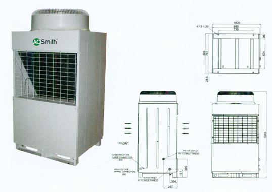 Air to Heat Water Heater CAHP - MC38 Series