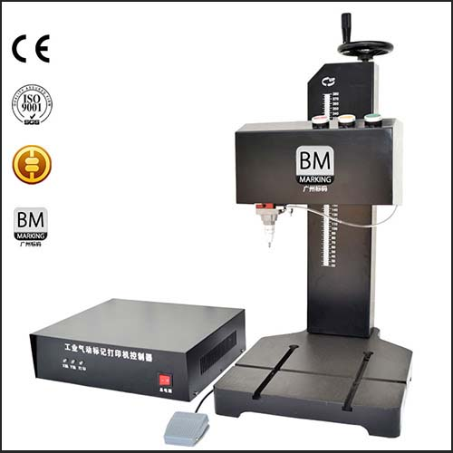 CNC Nameplate Steel Metal Pneumatic Marking Machine